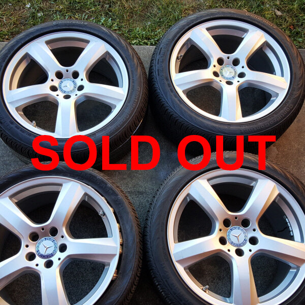 """18"""" 2013 Mercedes CLS OEM Factory Wheels and tires"""