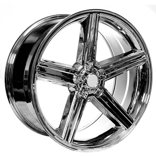 "22x8.5"" IROC Wheels Chrome 5-lugs Rims Free Shipping"
