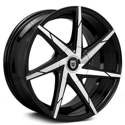 "17"" 18"" Lexani Wheels CSS-7 Black Machined Rims *Free Shipping"
