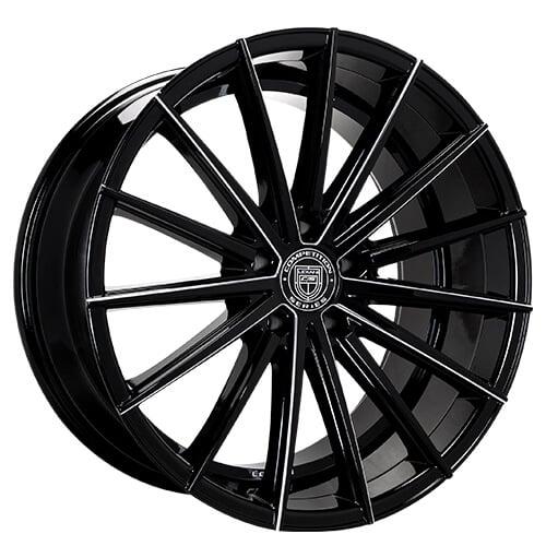 "20"" 22"" Lexani Wheels Pegasus Black W CNC Accents Rims *Free Shipping"