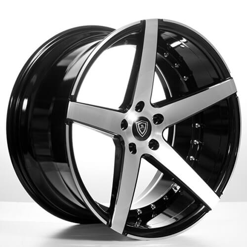 "20"" Staggered MQ Wheels 3226 Black W Brush Face Rims Extremely Concave (Reg $1499)"
