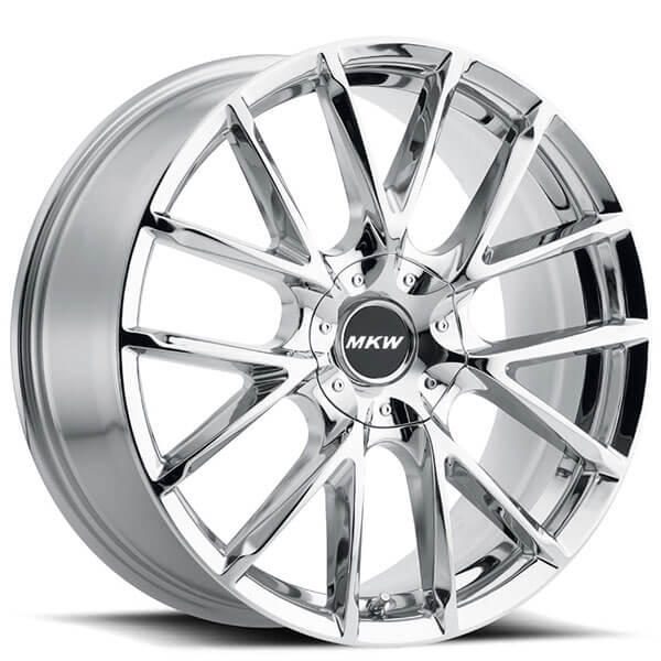 "22"" MKW Wheels M123 Chrome Rims"