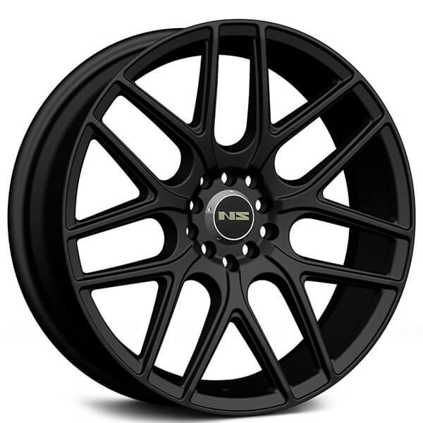 "18"" NS Wheels Tunner NS1502 Matte Black Rims #NS044-3"