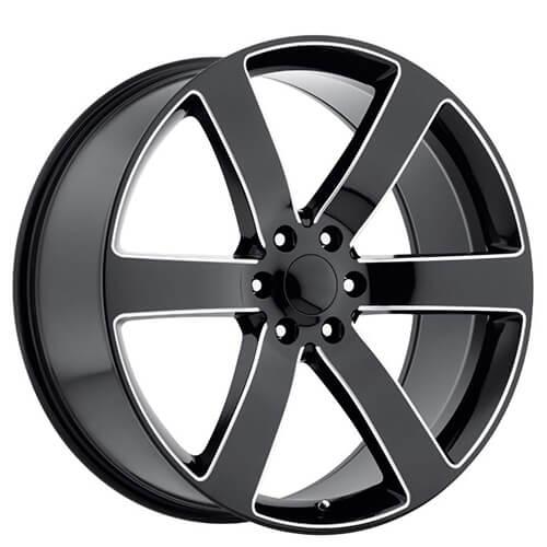 22 Quot Tbss 1500 Tahoe Suburban Trailblazer Ss Wheels Black Milled Spoke Oem Replica Rims Oem087 1