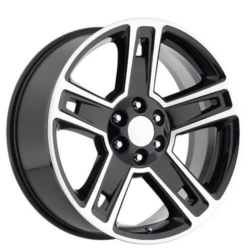 """Texas Edition Wheels >> 24"""" 2015 Chevy Silverado 1500 Wheels Black Machined OEM Replica Rims #OEM009-2"""