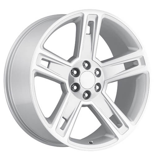 "22"" 24"" 2015 Chevy Silverado 1500 Wheels Silver Machine OEM Replica Rims"