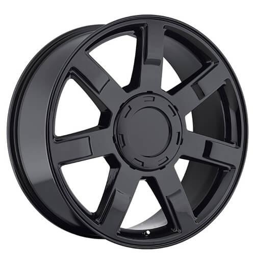 "22"" Cadillac Escalade Wheels Gloss Black OEM Replica Rims"