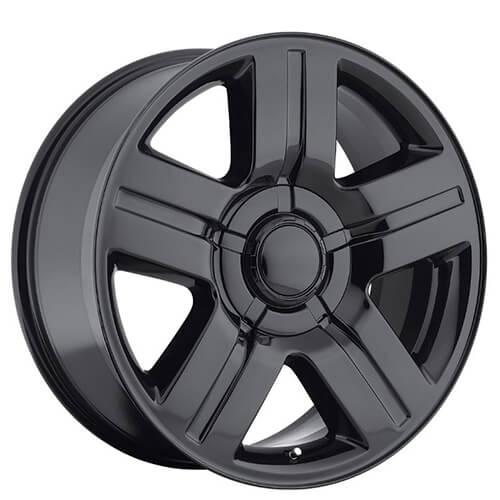 """20"""" 22"""" 24"""" 26"""" Chevy Silverado/Suburban Wheels Texas Edition Gloss Black OEM Replica Rims"""