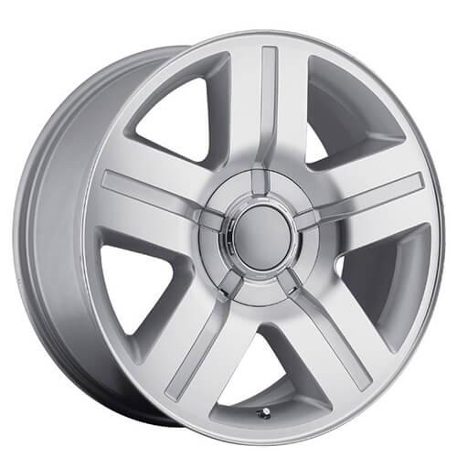 "20"" 22"" 24"" 26"" Chevy Silverado/Suburban Wheels Texas Edition Silver Machine OEM Replica Rims"