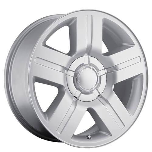 "20"" 22"" 24"" 26"" Chevy Silverado/Suburban Wheels Texas Edition Silver OEM Replica Rims"