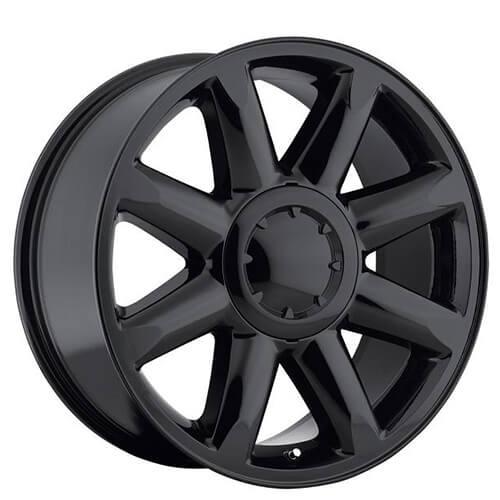 "20"" GMC Denali Wheels Gloss Black OEM Replica Rims #OEM073-1"