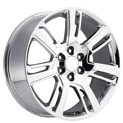 """24"""" Cadillac Escalade Wheels FR 48 Chrome OEM Replica Rims"""