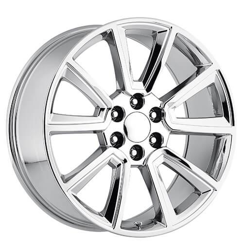 22 U0026quot  2015 Tahoe Wheels Pvd Chrome Oem Replica Rims  Oem079