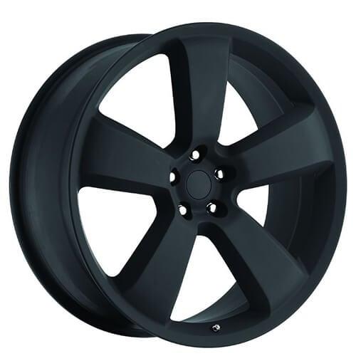 "22"" Dodge Charger SRT8 Wheels Satin Black OEM Replica Rims"