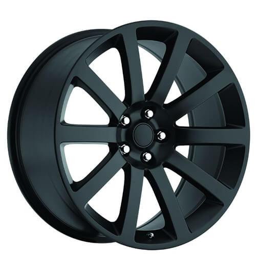 """20"""" Chrysler 300C SRT8 Wheels Satin Black OEM Replica Rims"""