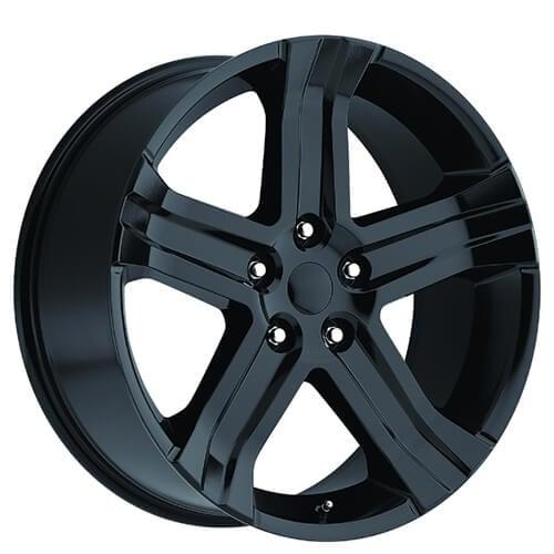 "22"" 2013 Dodge Ram RT Wheels Gloss Black OEM Replica Rims"
