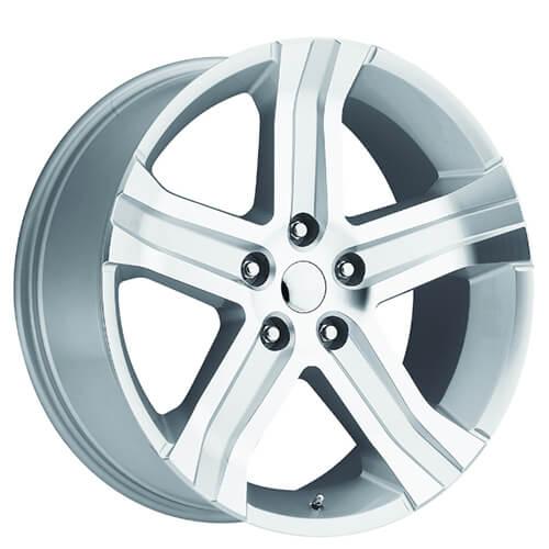 "22"" 2013 Dodge Ram RT Wheels Silver Machined OEM Replica"