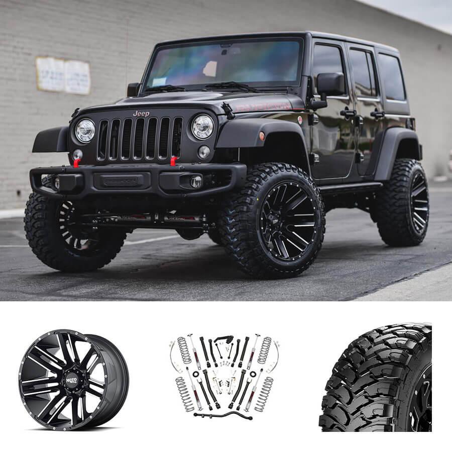 "1-20 Inch Black Wheels Rims Wheel Rim Jeep Wrangler JK Moto Metal MO962 20x12/"""