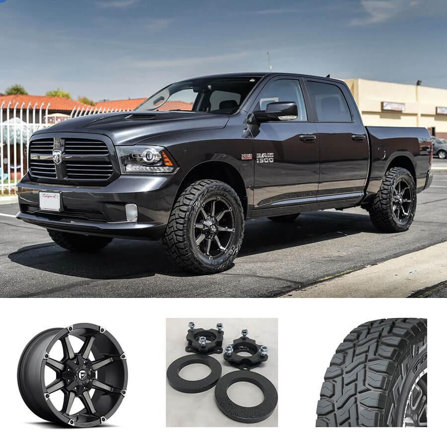 Dodge Ram Rims >> 13 17 Dodge Ram 1500 20x9 Wheels Tires Suspension Package Deal