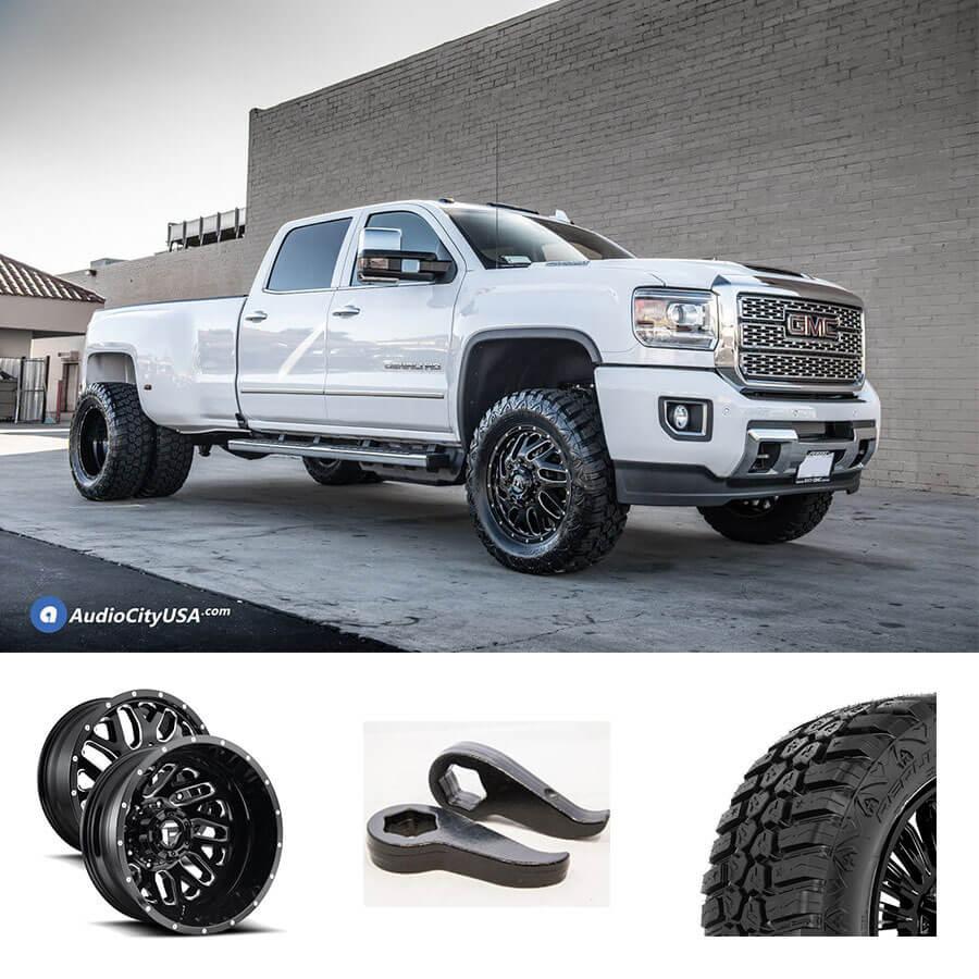 11 20 Gmc Sierra 3500 Dually Wheels Tires Suspension Package Deal Pkg087