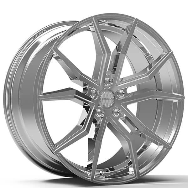 "Paragon Honda Service >> 22"" Staggered Paragon Wheels Rosso Icon Chrome Rims #PG010-4"