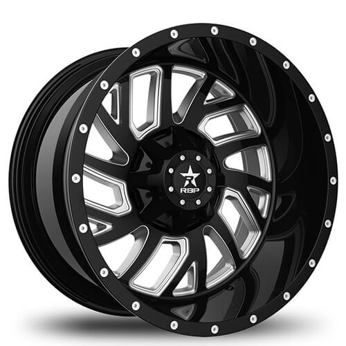 "20"" 22"" RBP Wheels Glock Black W Chrome Accents Rims *Free Shipping"