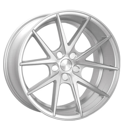 "20"" 21"" 22"" Rennen Wheels CRL55 Silver Brushed Rims"
