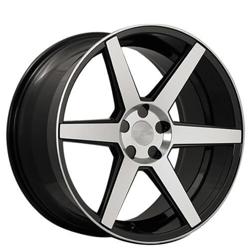 "20"" 22"" Rennen Wheels CRL60 Black Machined Rims"