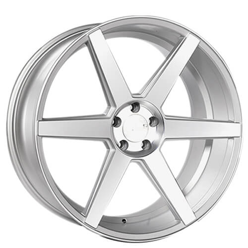 "20"" 22"" Rennen Wheels CRL60 Silver Machined Rims"