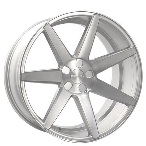 "18"" 20"" Rennen Wheels CRL70 Silver Brushed Rims"