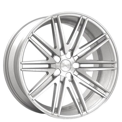 "20"" Rennen Wheels CRL80 Silver Brushed Rims"