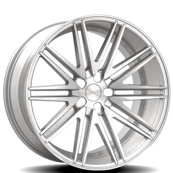 "20"" Rennen Wheels CRL80 Silver Brushed Rims"