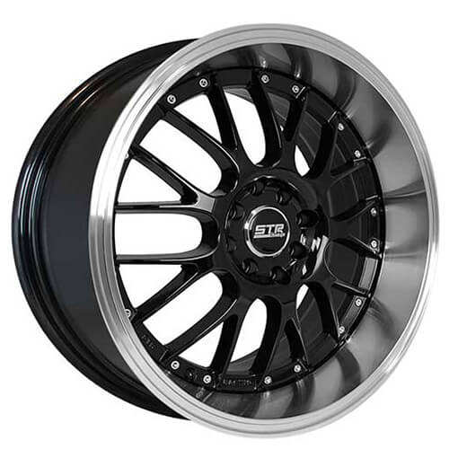 "17"" 18"" STR Wheels 514 Black JDM Style Rims"