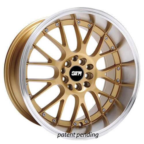 "20"" STR Wheels 514 Gold JDM Style Rims"