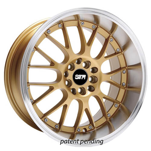 "17"" 18"" STR Wheels 514 Gold JDM Style Rims"