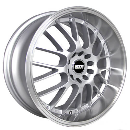 """17"""" 18"""" STR Wheels 514 Silver JDM Style Rims"""