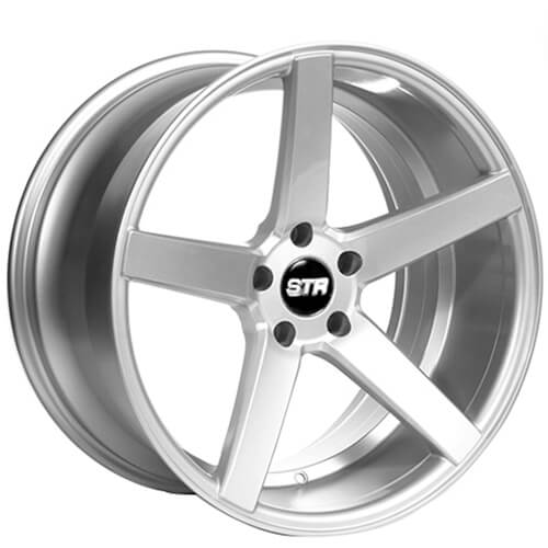 """20"""" Staggered STR Wheels 607 Silver Rims"""