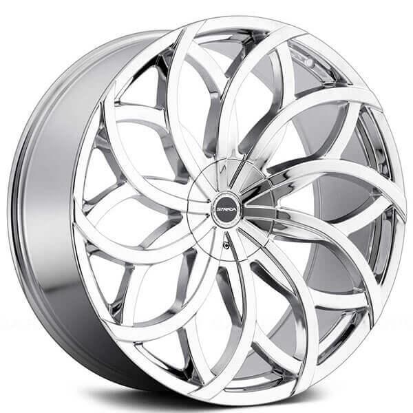 22 Strada Wheels Huracan Chrome Rims Std008 1