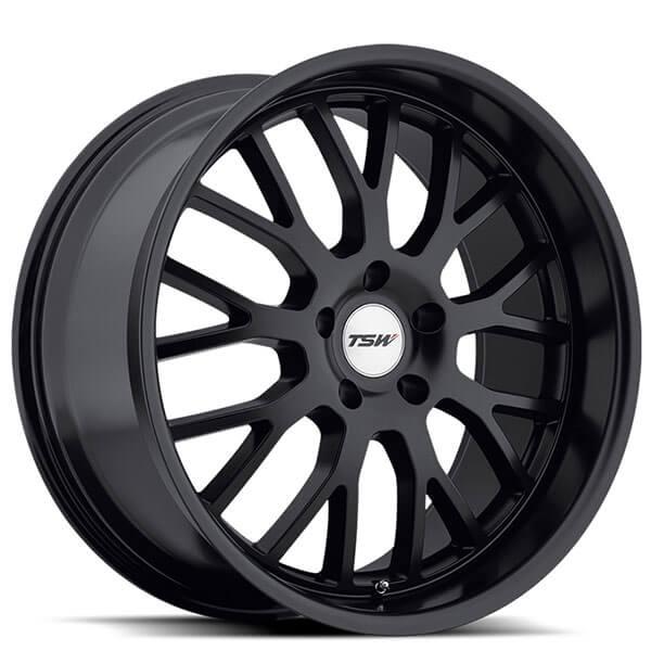 18 Quot Tsw Wheels Tremblant Matte Black Rims Tsw016 1