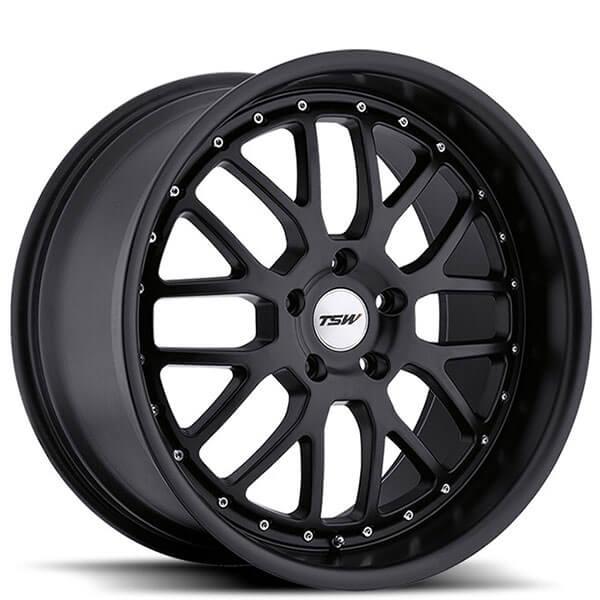 20 Quot Staggered Tsw Wheels Valencia Matte Black Rims Tsw030 6