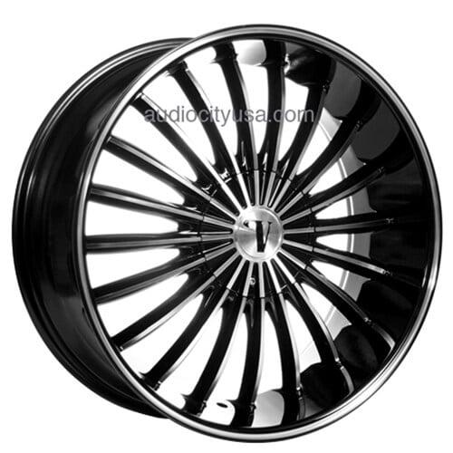"1999 Dodge Charger >> 22"" Velocity Wheels VW11 Black Machined Rims #VC009-3"