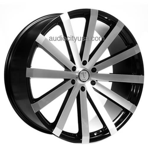 "2003 2008 Mazda 6 Wheels For Sale: 26"" Velocity Wheels VW12 Black Machined Rims #VC017-6"