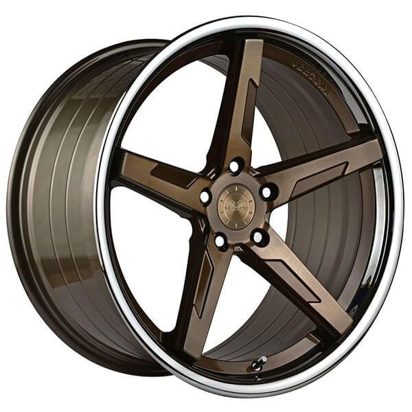 "19"" Staggered Vertini Wheels RFS1.7 Brushed Dual Bronze"