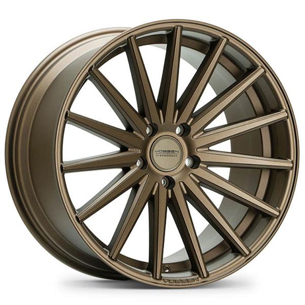 "22"" Staggered Vossen Wheels VFS2 Satin Bronze Rims #VSS030-6"