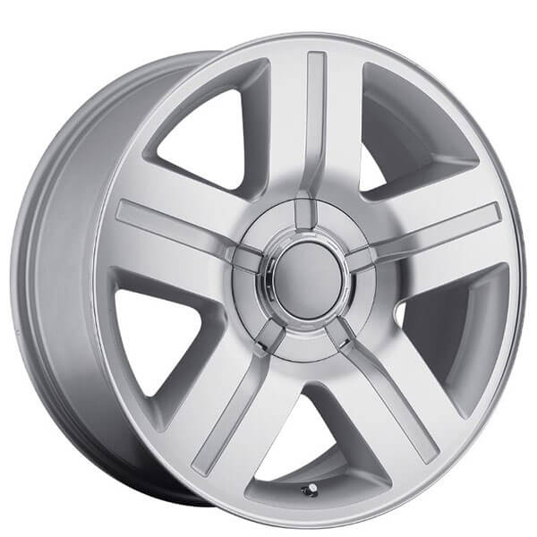 "Wheels Texas Edition >> 26"" Chevy Silverado/Suburban Wheels Texas Edition Silver Machine OEM Replica Rims #OEM004-4"
