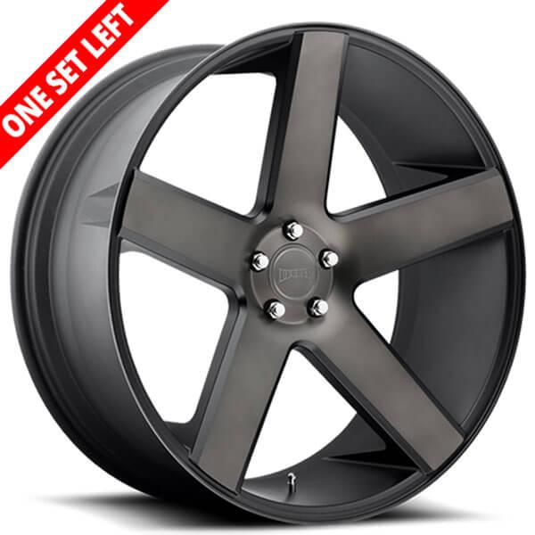 "22"" Dub Wheels Baller S216 Black Machined with Dark Tint Rims (5x115 / 5x120, ET+15mm)"