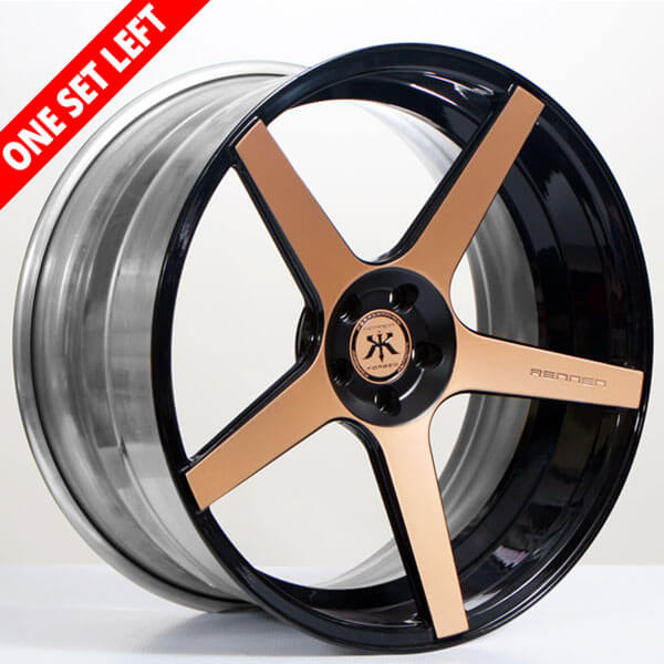 """22"""" 3pcs Forged Staggered Rennen Wheels RL-05 Copper Custom Finish for Mercedes Rims (5x112  ET +28/41mm)"""