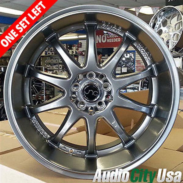 "18"" JNC Wheels 019 Hyper Black Rims (5x100/5x114, ET+30mm)"