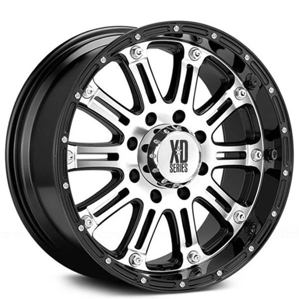 16 xd wheels xd795 hoss gloss black with machined face off road Scion FR-S
