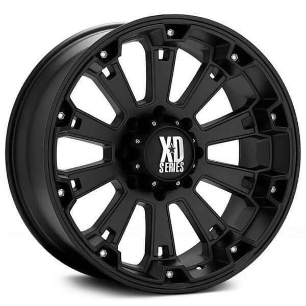 "20"" XD Wheels XD800 Misfit Matte Black Off-Road Rims"